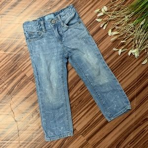 Baby Gap Adjustable Waist Dinosaur Wash Jeans, 3T